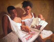 Oresegun Olumide's hyper-realism paintings