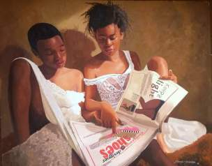 Oresegun Olumide's hyper-realism paintings